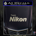 Team Nikon D1 Decal Sticker Metallic Silver Vinyl 120x120