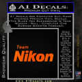 Team Nikon D1 Decal Sticker Orange Emblem 120x120
