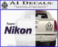 Team Nikon D1 Decal Sticker Purple Vinyl 120x97