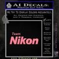 Team Nikon D1 Decal Sticker Soft Pink Emblem 120x120