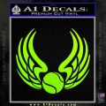 Tennis Decal Sticker Wings Neon Green Vinyl Black 120x120