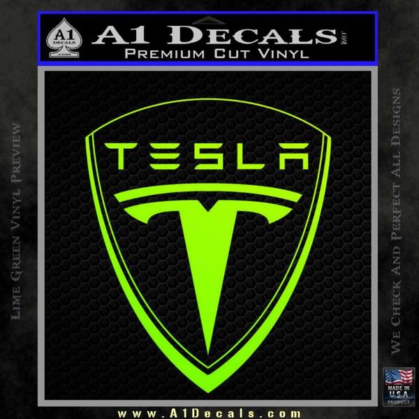 Tesla Motors Emblem Decal Sticker 187 A1 Decals