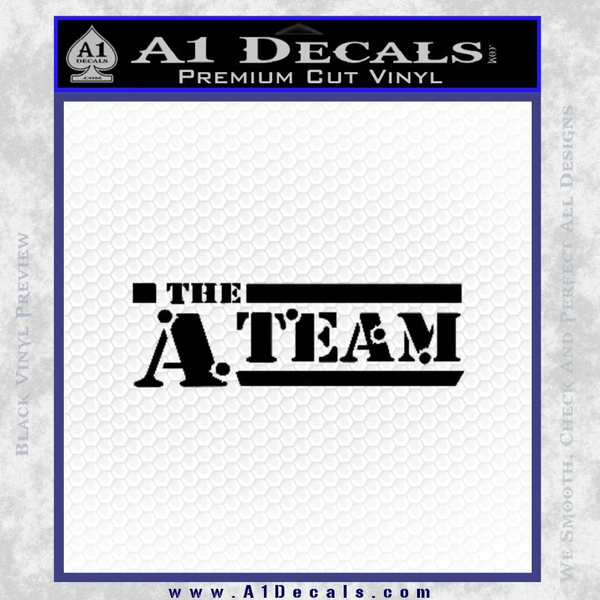 The A Team D1 Decal Sticker Black Vinyl