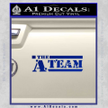 The A Team D1 Decal Sticker Blue Vinyl 120x120