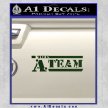 The A Team D1 Decal Sticker Dark Green Vinyl 120x120