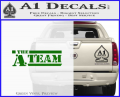 The A Team D1 Decal Sticker Green Vinyl 120x97