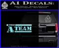 The A Team D1 Decal Sticker Light Blue Vinyl 120x97