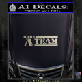 The A Team D1 Decal Sticker Metallic Silver Vinyl 120x120