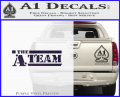 The A Team D1 Decal Sticker Purple Vinyl 120x97