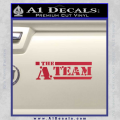 The A Team D1 Decal Sticker Red Vinyl 120x120