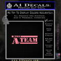 The A Team D1 Decal Sticker Soft Pink Emblem 120x120