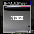 The A Team D1 Decal Sticker White Vinyl 120x120