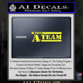 The A Team D1 Decal Sticker Yellow Vinyl 120x120