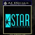 The Flash Star Labs Decal Sticker NEW light blue 120x120