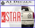 The Flash Star Labs Decal Sticker NEW red 120x97