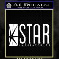 The Flash Star Labs Decal Sticker NEW white 120x120