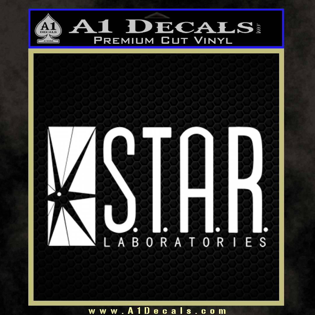 The Flash Star Labs Decal Sticker NEW white