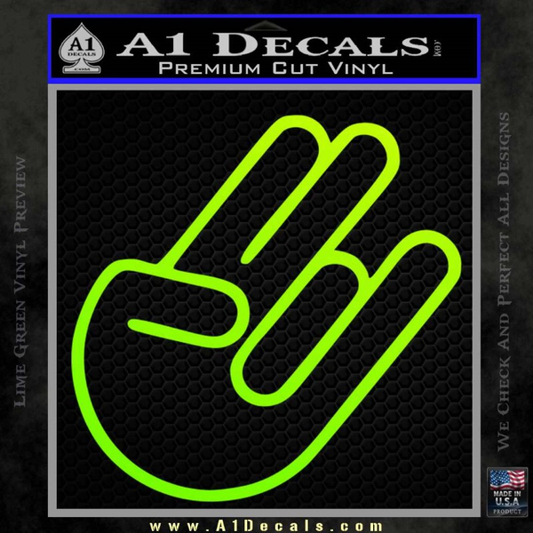 The shocker decal sticker neon green vinyl