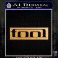 Tool Band Logo New Decal Sticker Gold Metallic Vinyl 120x120