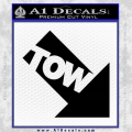 Tow Point Decal Sticker Black JDM Vinyl 120x120