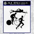 Triathlon Ironman Decal Sticker Intricate Black Vinyl 120x120