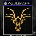 Tribal Dragon Head Decal Sticker D1 Gold Vinyl 120x120
