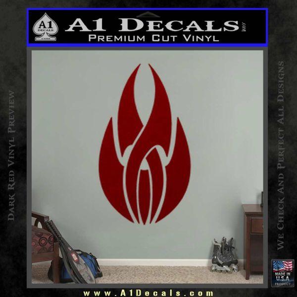 Tribal Fire Decal Sticker DRD Vinyl