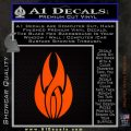 Tribal Fire Decal Sticker Orange Emblem 120x120