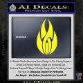 Tribal Fire Decal Sticker Yellow Laptop 120x120