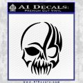Tribal Skull Decal Sticker D2 Black Vinyl 120x120