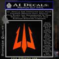 Trident Decal Sticker Orange Emblem 120x120