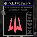 Trident Decal Sticker Pink Emblem 120x120