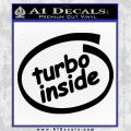 Turbo Boost Inside Decal Sticker Black Vinyl 120x120