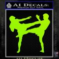 UFC Fighters Decal Sticker Standing Lime Green Vinyl 120x120