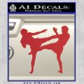 UFC Fighters Decal Sticker Standing Red 120x120