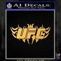 UFC New Tribal Decal Sticker Gold Vinyl 120x120