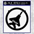 USAF Air Force Decal Sticker Tag Black Vinyl 120x120