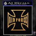 USAF Iron Cross Decal Sticker Gold Vinyl 120x120
