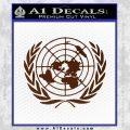 United Nations Crest Logo Emblem D1 Decal Sticker BROWN Vinyl 120x120