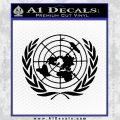 United Nations Crest Logo Emblem D1 Decal Sticker Black Vinyl 120x120