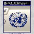 United Nations Crest Logo Emblem D1 Decal Sticker Blue Vinyl 120x120