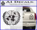 United Nations Crest Logo Emblem D1 Decal Sticker Carbon FIber Black Vinyl 120x97