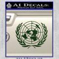 United Nations Crest Logo Emblem D1 Decal Sticker Dark Green Vinyl 120x120