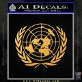 United Nations Crest Logo Emblem D1 Decal Sticker Gold Vinyl 120x120