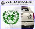 United Nations Crest Logo Emblem D1 Decal Sticker Green Vinyl Logo 120x97
