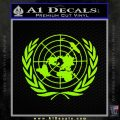 United Nations Crest Logo Emblem D1 Decal Sticker Lime Green Vinyl 120x120