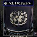 United Nations Crest Logo Emblem D1 Decal Sticker Metallic Silver Emblem 120x120