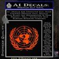 United Nations Crest Logo Emblem D1 Decal Sticker Orange Emblem 120x120