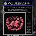 United Nations Crest Logo Emblem D1 Decal Sticker Pink Emblem 120x120