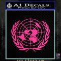 United Nations Crest Logo Emblem D1 Decal Sticker Pink Hot Vinyl 120x120